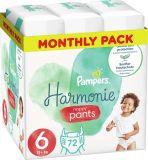PAMPERS Harmonie Plienkové nohavičky Veľkosť 6, 72 ks, 15 kg+