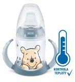NUK Lahvička na učení DISNEY-Medvídek Pú s kontrolou teploty 150 ml šedá