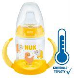 NUK FC lahvička na učení s kontrolou teploty 150 ml žlutá
