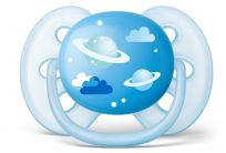 Philips AVENT Šidítko Ultrasoft Obrázek 6-18m modré, 1 ks