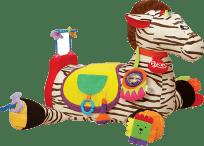 K´S KIDS Zabawka edukacyjna – wielka zebra RYAN z 28 funkcjami zabawy