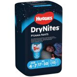 HUGGIES DryNites pro chlapce 4-7 let, 10 ks (17-30 kg) - kalhotkové pleny
