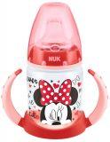 NUK First Choice Láhev na učení, Disney Minnie 150 ml, silikónové pítko (6-18 m) – červená