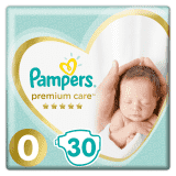 PAMPERS Premium Care 0 NEWBORN 30 ks (do 2,5 kg) - jednorazové plienky
