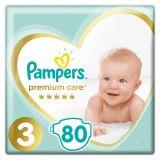 PAMPERS Premium Care 3 MIDI 80 szt. (6-10 kg), JUMBO PACK - pieluchy jednorazowe