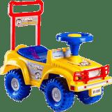TEDDIES Odrážadlo auto Jeep Yupee žlté