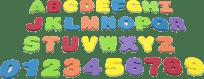 TEDDIES Pěnová písmena a číslice do vany