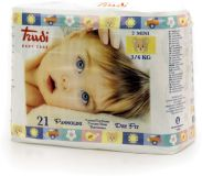 TRUDI BABY Dry Fit Mini 3-6 kg (21 ks) s vrstvou Perfo-Soft  – dětské pleny