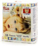 TRUDI BABY Dry Fit Maxi 7-18 kg (18 ks) s vrstvou Perfo-Soft – dětské pleny