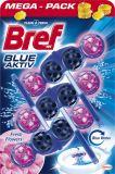 BREF Blue Aktiv Fresh Flower WC blok (3x50 g)