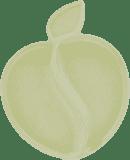 PACIFIC BABY Bamboo Apple Talířek bílý