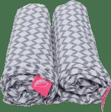 MOTHERHOOD Premium Mušelínové bavlněné pleny (100x120 cm) - Classics šedé