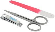 BABYONO Zestaw do manicure – fioletowy