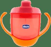 CHICCO Hrneček na učení s oušky Meal Cup, 12m+ - červený