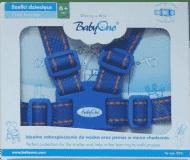 BABYONO Popruhy na dítě – modré, 6m+