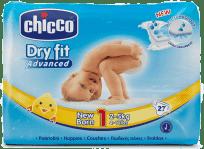 CHICCO Plienky Newborn 27ks (2-5 kg) - jednorazové plienky