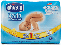 CHICCO Plenky Newborn 27ks (2-5kg) – jednorázové pleny
