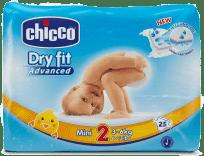 CHICCO Plenky Mini 25ks (3-6kg) – jednorázové pleny