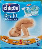 CHICCO Plienky Junior 17 ks (12-25 kg) - jednorazové plienky