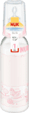 NUK Fľaša PP 240ml, silikón (0-6m) – ružová (Feedo klub)