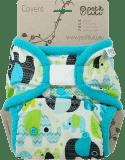 PETIT LULU Svrchní kalhotky (4 - 15 kg) - Sloníci (tyrkys)