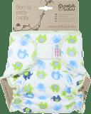PETIT LULU Kalhotková plena na suchý zip (4 – 15kg) - Sloníci modro-zelení
