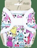 PETIT LULU Novorozenecké svrchní kalhotky (2-6kg) - Kočky