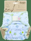 PETIT LULU Kalhotková plena na suchý zip (4 – 15 kg) - Hvězdička modro-zelená