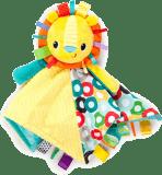 BRIGHT STARTS Dečka mazlící s hlavou Cuddle'n Tag lev 35 x 35 cm, 0 m+