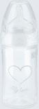 NUK New Classic Fľaša Love PP 150 ml, silikón, veľkosť 1, (0-6 m), M – biela