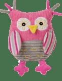 BABYONO Hračka hrací sova růžová 25cm