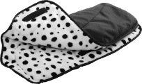 DIAGO Rukávník ke kočárku – černá / dalmatin