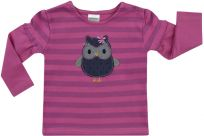 JACKY Triko dlouhý rukáv OWL, vel. 74- fialová, Holky