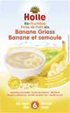 HOLLE Organická ovocná kaše banán-krupice, 250 g
