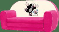 BINO Mini pohovka Krtek - ružová