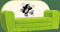 BINO Mini Sofa Krecik – zielona
