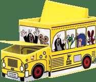 BINO Krtko krabice na hračky - autobus
