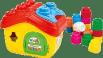 CLEMENTONI CLEMMY Baby - Vedierko domček s otváracou strechou a kockami