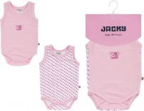JACKY Body 2 ks Baby Girl, vel. 62/68 - růžová, holka