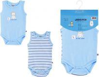 JACKY Body Baby Boy 2 ks, vel. 62/68 - modrá, kluk
