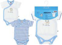JACKY Zavinovací body s krátkým rukávem Baby Boy 2 ks, vel. 74/80 - modrá, kluk