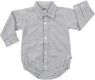 JACKY Body košile dlouhý rukáv CLASSIC, vel. 86- šedá, Kluci