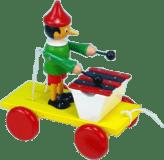 MIVA Pinochio s xylofónom ťahacie - drevo