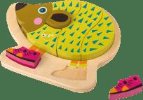 OOPS Happy Puzzle! - Zvířátkové puzzle na desce 9ks Ježek