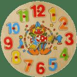 STUDO WOOD Dřevěná vkládačka – hodiny