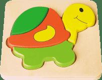 STUDO WOOD Puzzle želva 4 ks