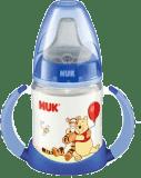 NUK láhev na učení Disney (silikon) 150 ml - modrá