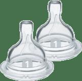 Philips AVENT Dudlík Anti-colic/Classic+ 1 novorozenecký průtok 0+ m, 2 ks