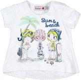 BOBOLI Tričko s krátkým rukávem, vel. 74 cm - bílá, holka