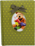 FOTOALBUM dětské 200 fotografií (10x15cm) - zelený medvídek